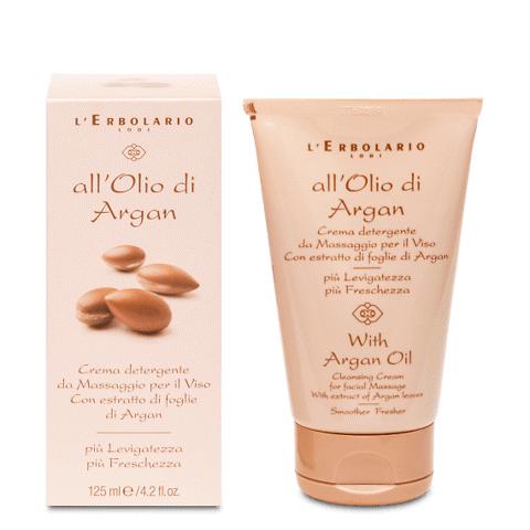 Olio di argan crema detergente viso