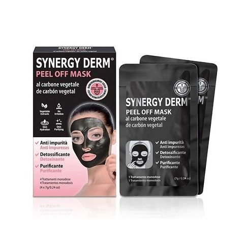 Maschera viso al carbone vegetale